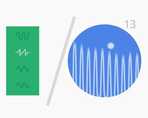 Code: 10001000 Tongenerator und Oszillograph