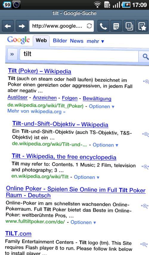 Googlesuche nachTilt