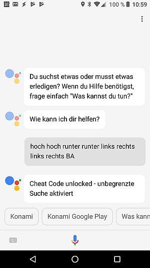 Google Assitant mit Konami Code