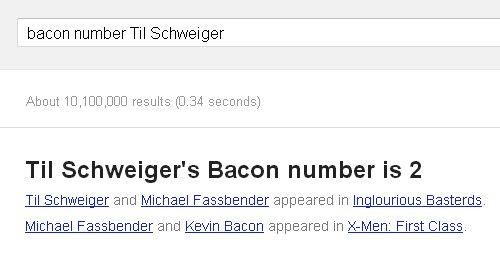 Bacon Number von Til Schweiger ist die 2