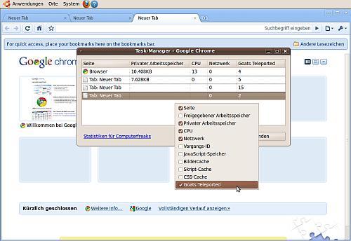 Screenshot mit markiertem Menüpunkt
