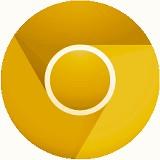 Goldenes Chrome Logo