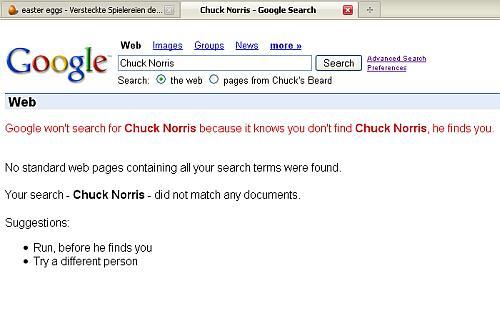 Suchergebniss mit Hinweis