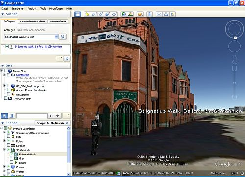 Screenshoot von Google Earth mit Morrissey