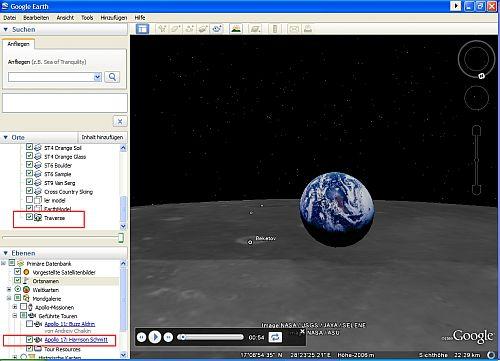 die Erde mal als Mond