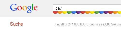 Suchergebniss mit Regenbogenfarben