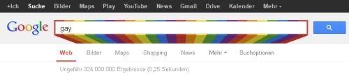 Bunte Suchbox von Google