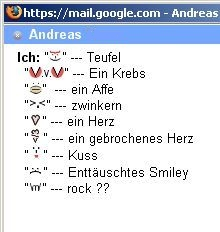 versteckte Smileys im Chat