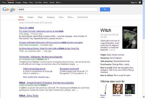 """Hier die Suche nach """"witch"""""""