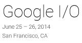 Google I/O 2014 Logo