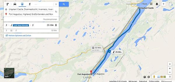 Hier geht es über den See mit dem Ungeheuer von Loch Ness.