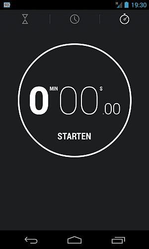 Stoppuhr von Android