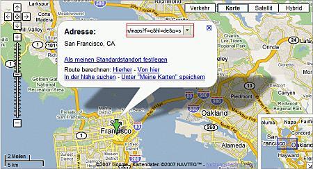 Google Maps auf deutsch, ohne dem Streetview Button