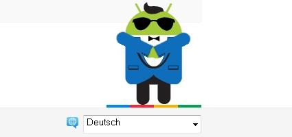 Android Maskottchen im Gangnam Style