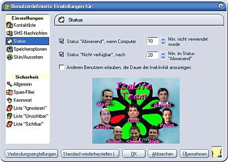 Eine Fotomontage mit den Fotos der ICQ Entwickler