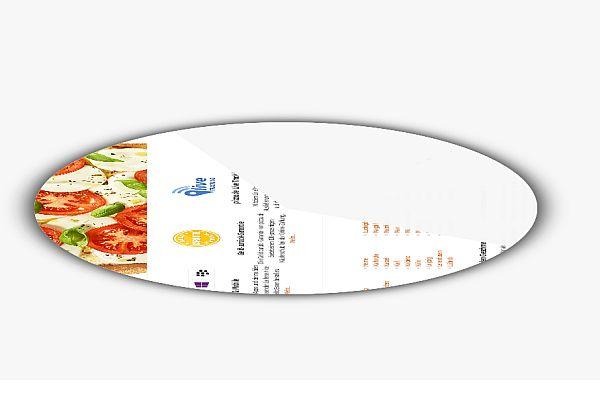 Screenshot der Webseite in Pizzaform