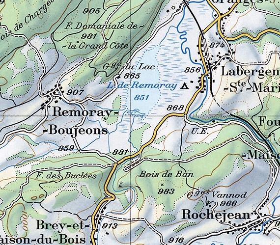 Ausschnitt aus einer Landkarte