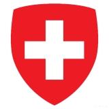 Schweizer Fahne in Wappenform