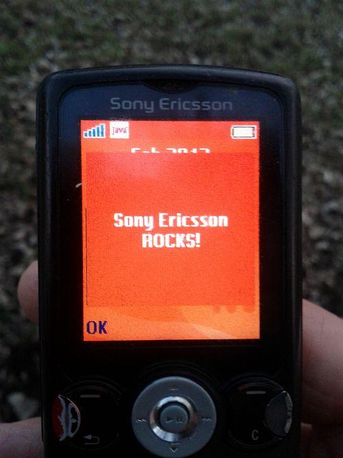 Nachricht der Entwickler: Sony Ericsson Rocks!