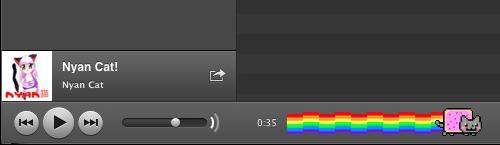 Fortschrittsbalken mit Nyan Cat
