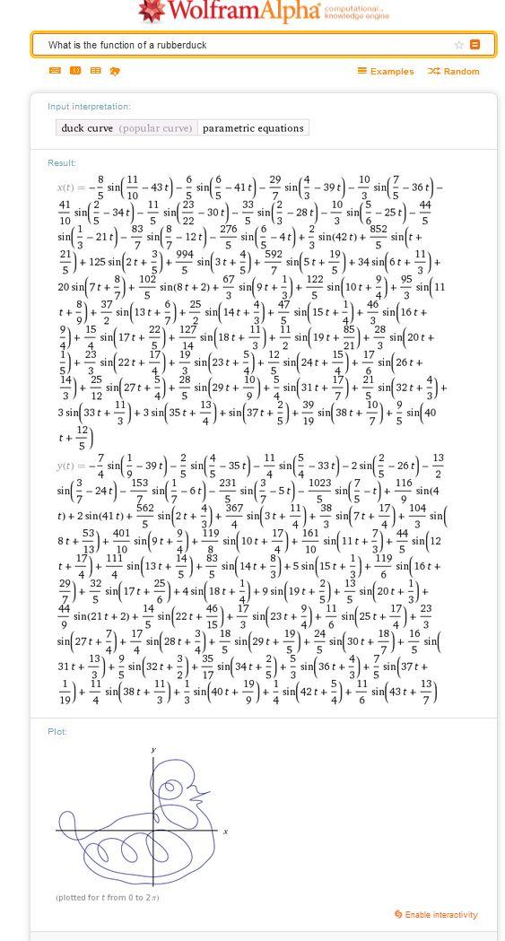 Ergebniss der Suche ist eine ziemlich lange Formel
