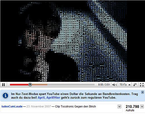 das Video als ASCII-Video