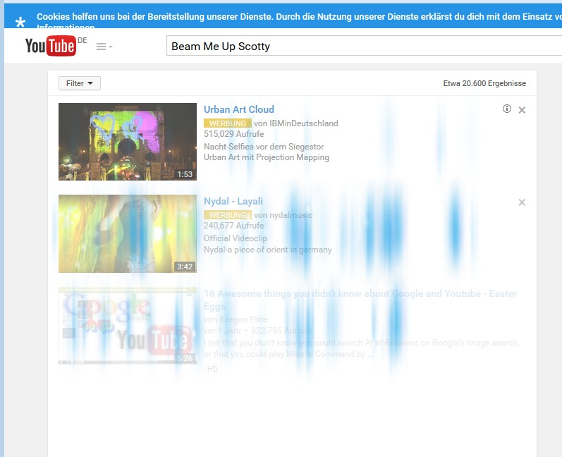 Bildschirmausschnitt mit Speziellen Grafikeffekt